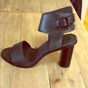 Joie Black Open Toe Sandals with Block Heal